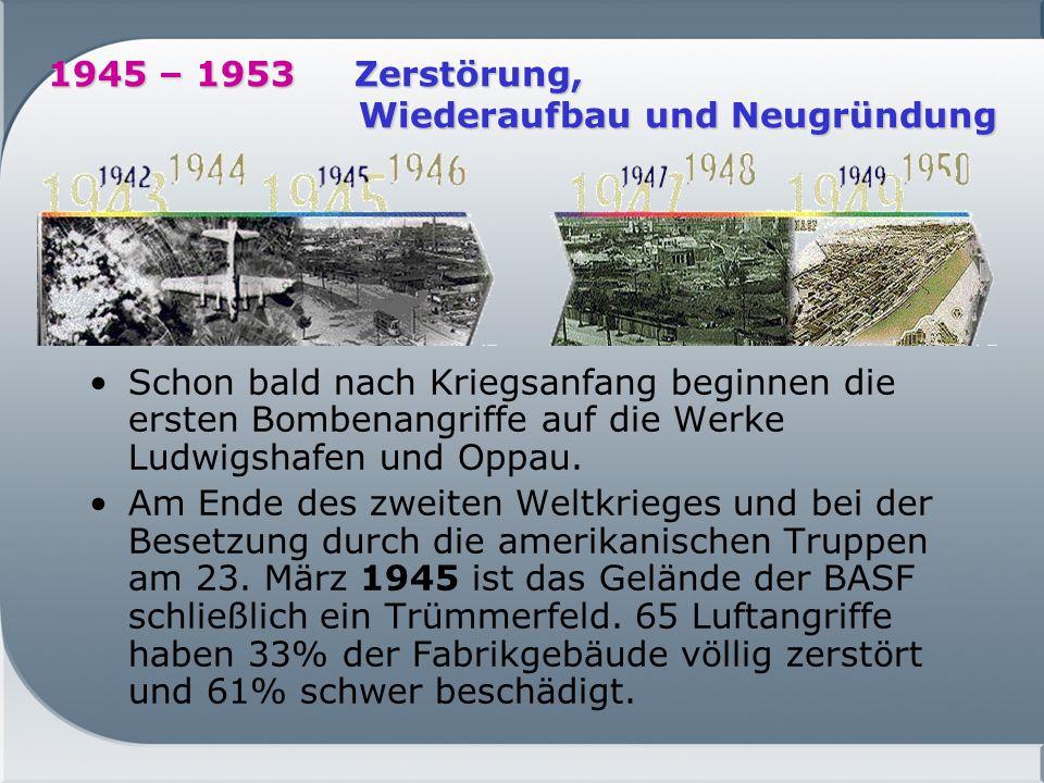 1945 – 1953 Zerstörung, Wiederaufbau und Neugründung