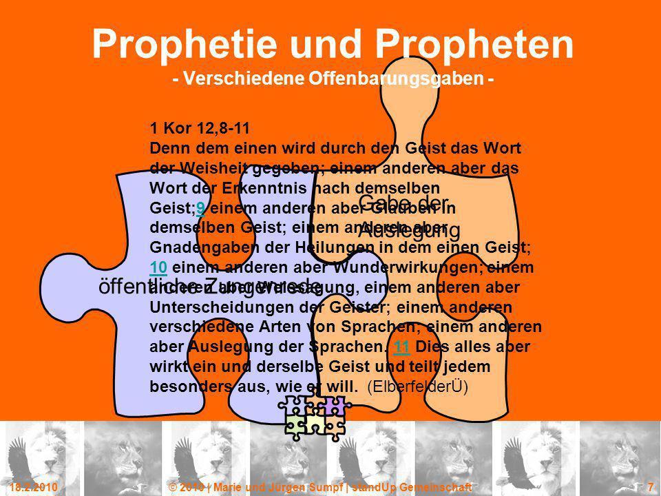 Prophetie und Propheten - Verschiedene Offenbarungsgaben -