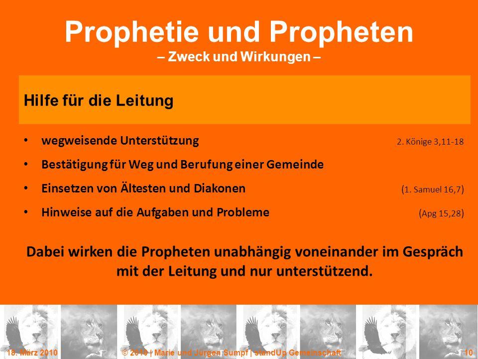 Prophetie und Propheten – Zweck und Wirkungen –