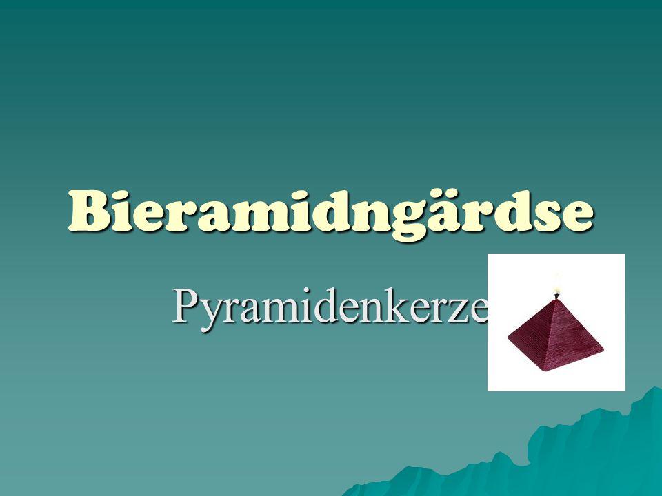 Bieramidngärdse Pyramidenkerze