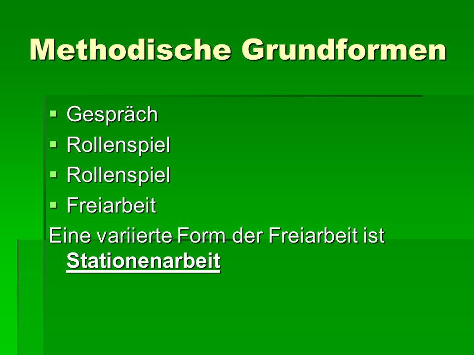 Methodische Grundformen