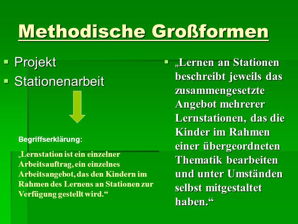 Methodische Großformen