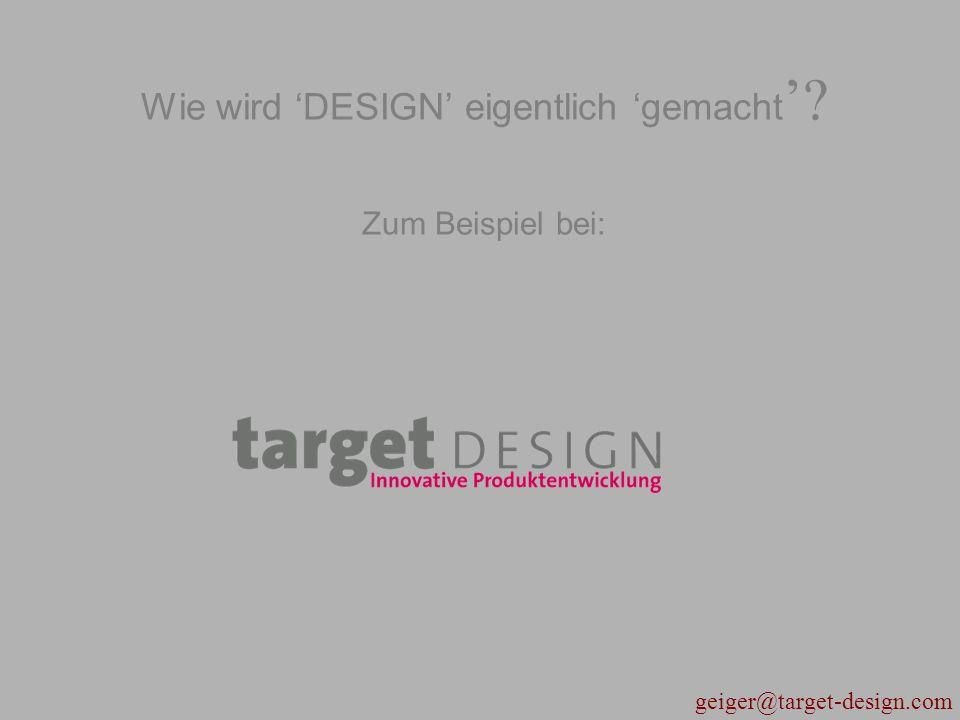 Wie wird 'DESIGN' eigentlich 'gemacht' Zum Beispiel bei: