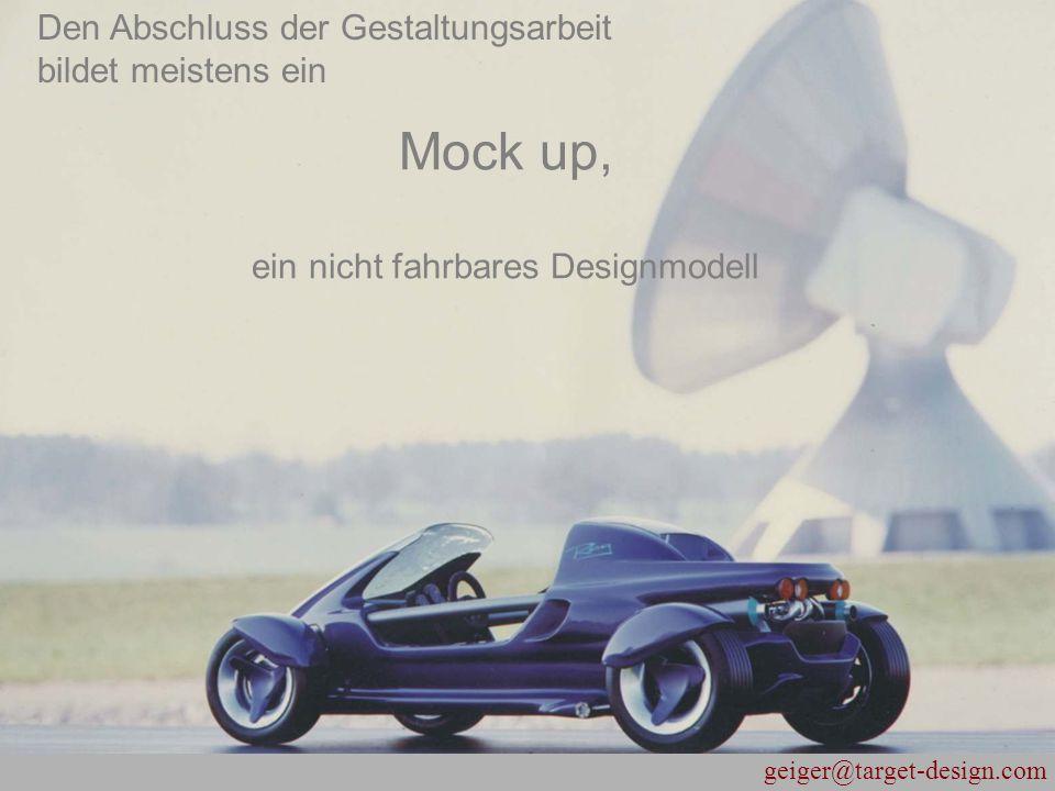 Mock up, ein nicht fahrbares Designmodell