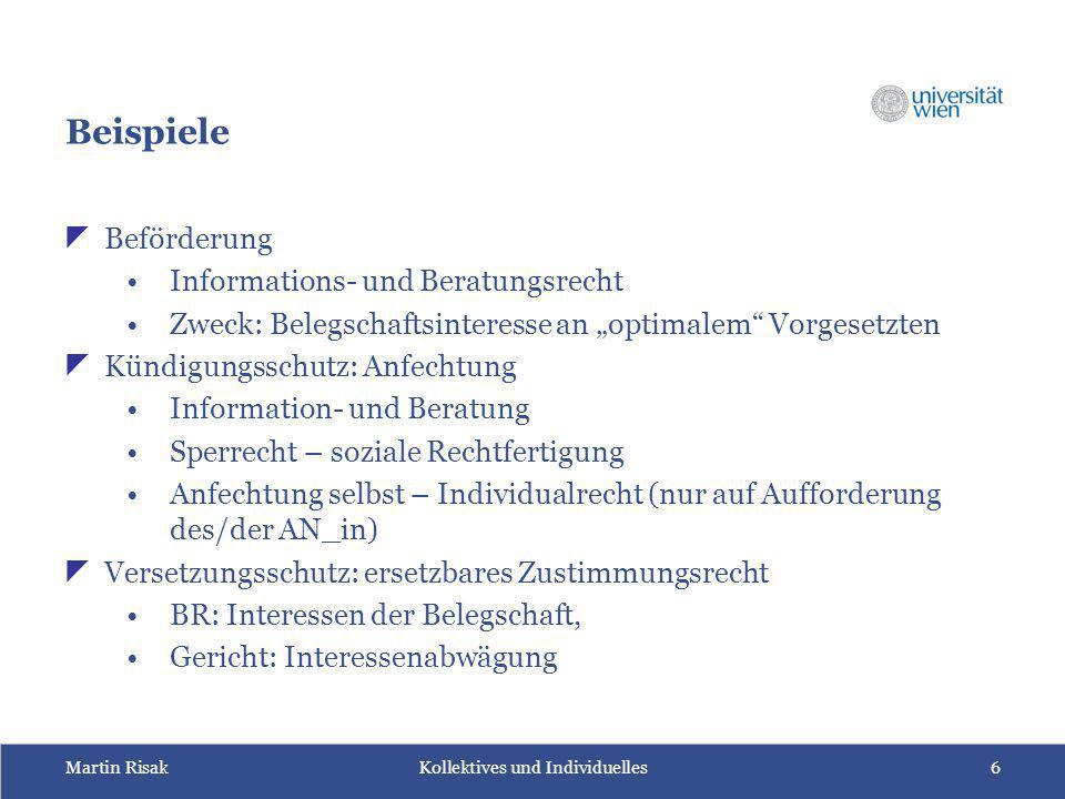 Beispiele Beförderung Informations- und Beratungsrecht