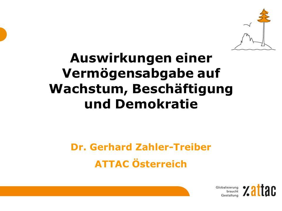 Dr. Gerhard Zahler-Treiber ATTAC Österreich
