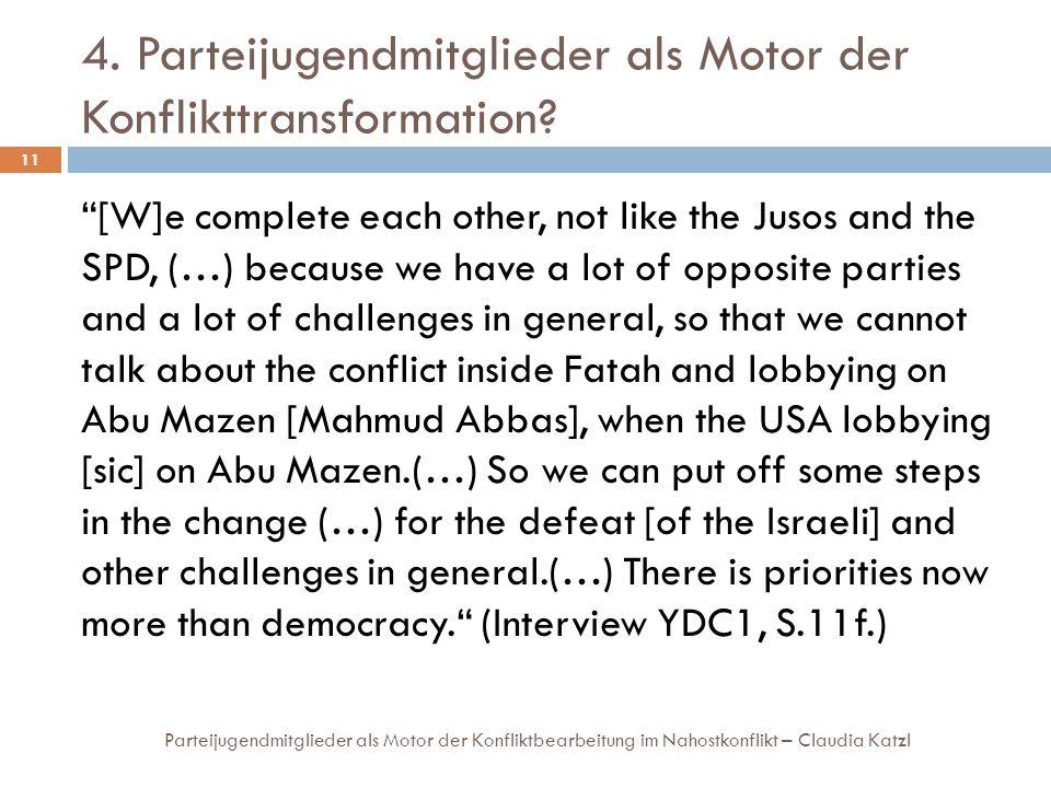 4. Parteijugendmitglieder als Motor der Konflikttransformation