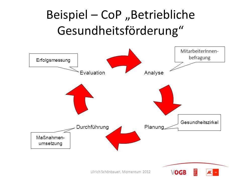 """Beispiel – CoP """"Betriebliche Gesundheitsförderung"""