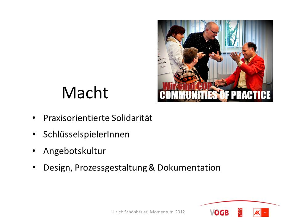 Ulrich Schönbauer, Momentum 2012