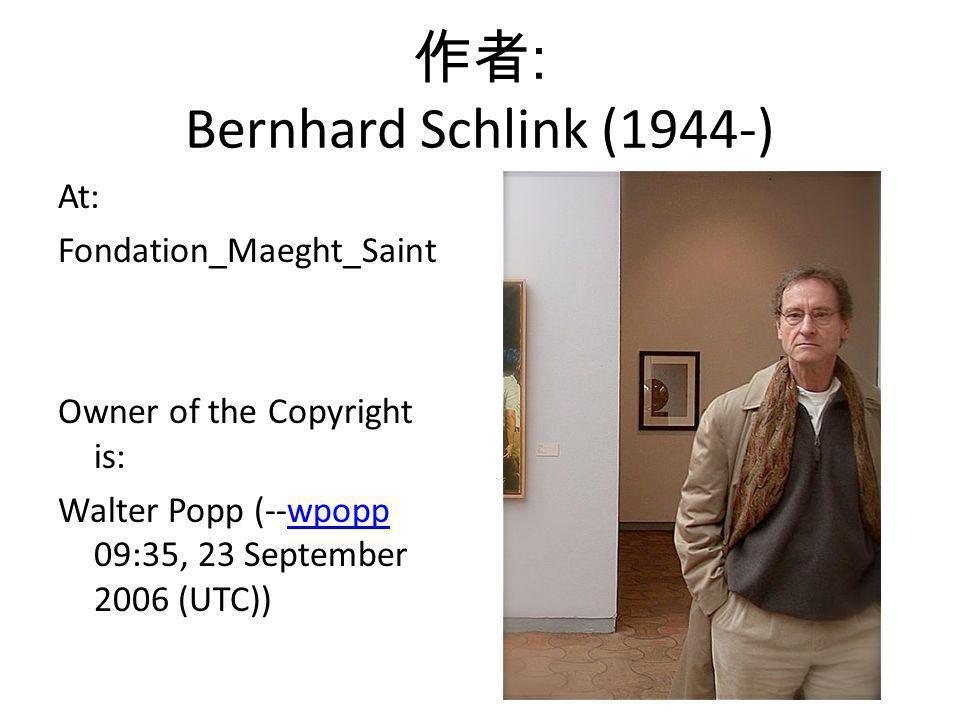 作者: Bernhard Schlink (1944-)