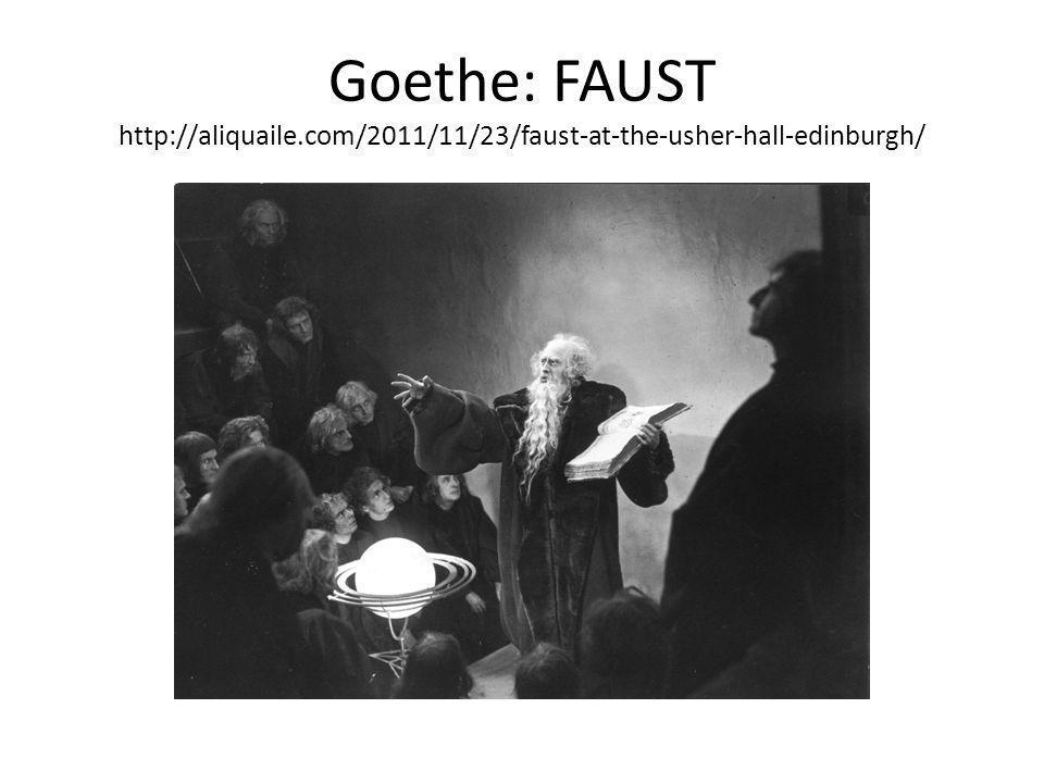 Goethe: FAUST http://aliquaile