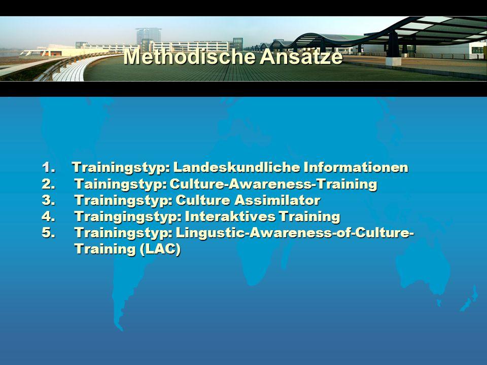 Methodische Ansätze 1. Trainingstyp: Landeskundliche Informationen