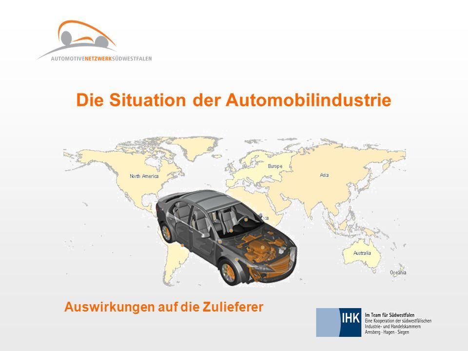 Die Situation der Automobilindustrie