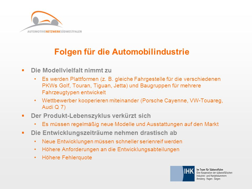 Folgen für die Automobilindustrie