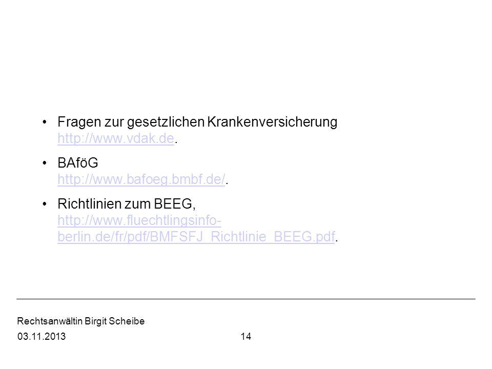 Fragen zur gesetzlichen Krankenversicherung http://www.vdak.de.