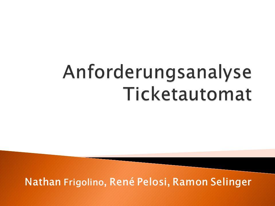 Anforderungsanalyse Ticketautomat