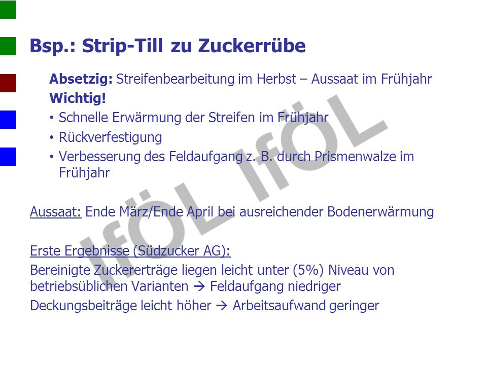 Bsp.: Strip-Till zu Zuckerrübe