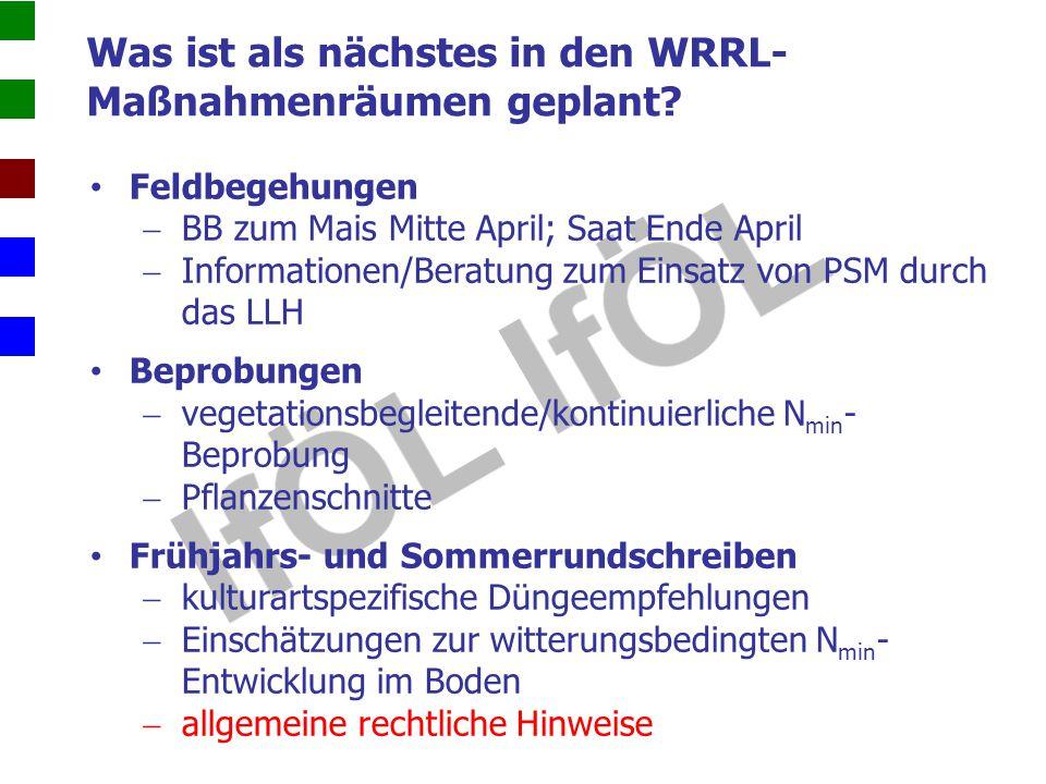 Was ist als nächstes in den WRRL-Maßnahmenräumen geplant