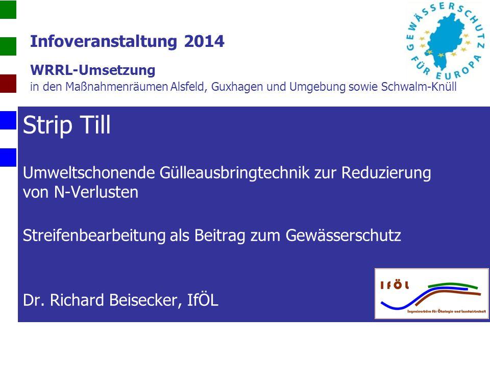 Infoveranstaltung 2014 WRRL-Umsetzung in den Maßnahmenräumen Alsfeld, Guxhagen und Umgebung sowie Schwalm-Knüll