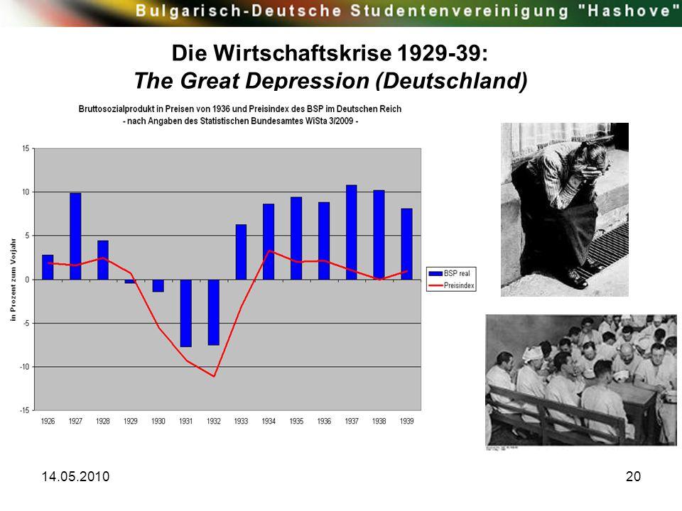 Die Wirtschaftskrise 1929-39: The Great Depression (Deutschland)