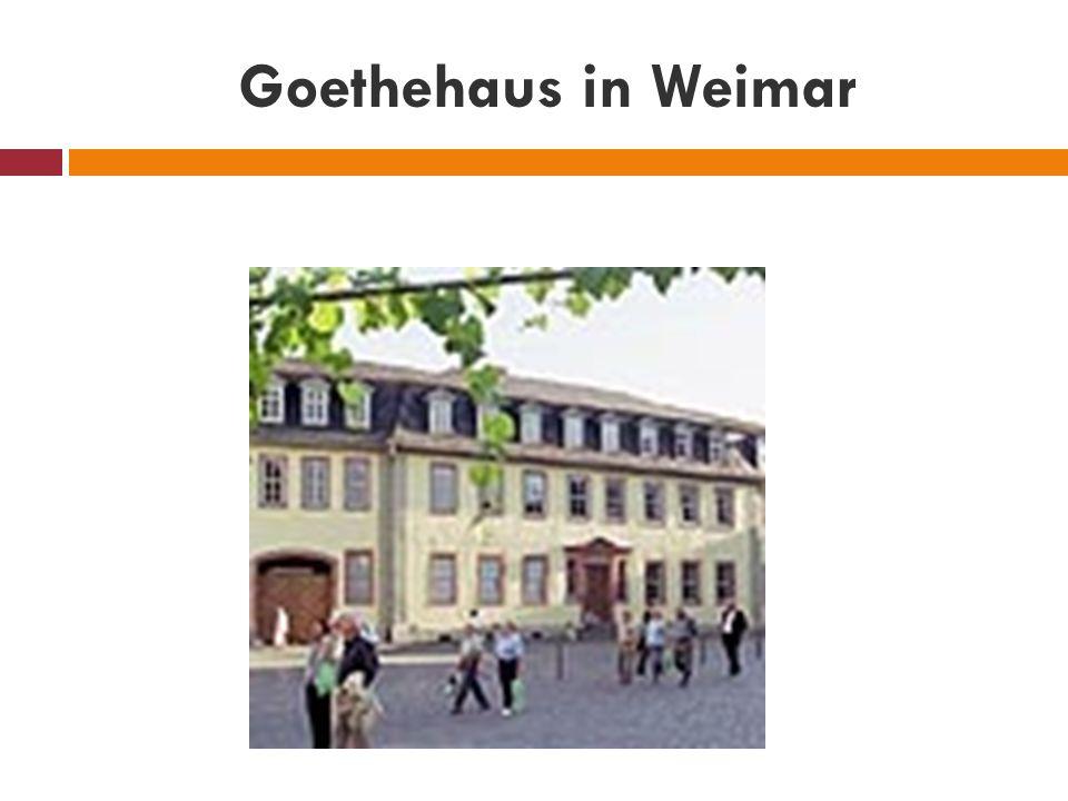 Goethehaus in Weimar
