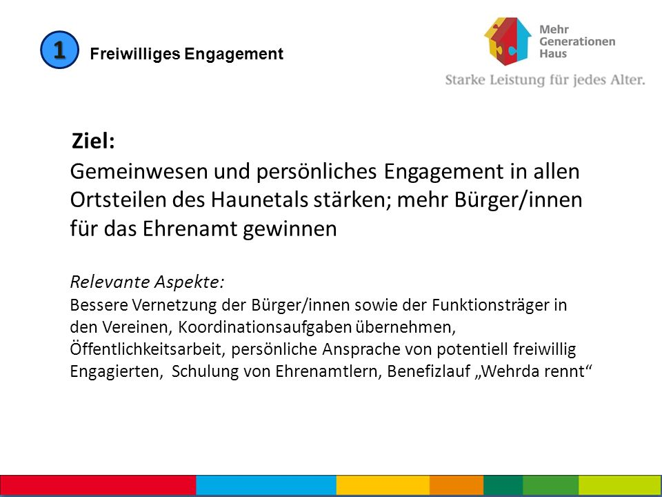 1 Freiwilliges Engagement.
