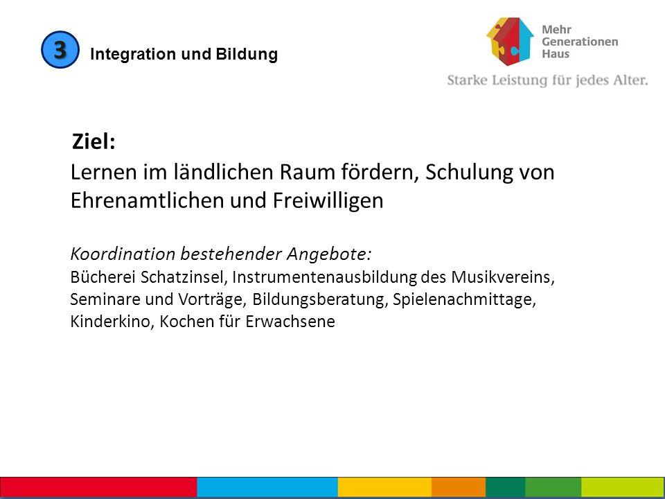 3 Integration und Bildung.