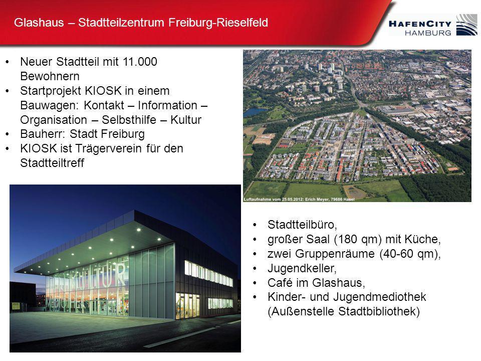 Glashaus – Stadtteilzentrum Freiburg-Rieselfeld