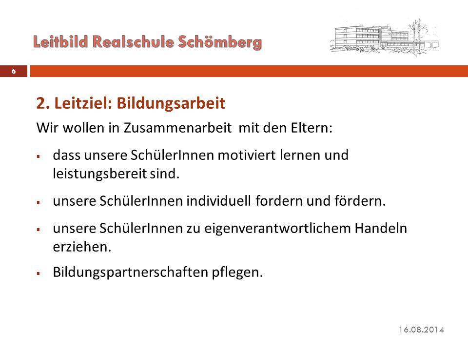Leitbild Realschule Schömberg
