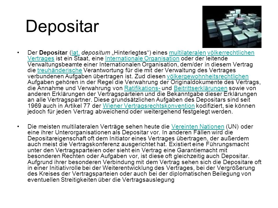 Depositar