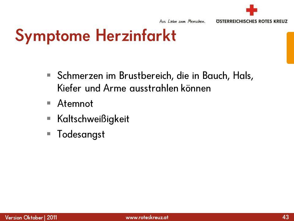 Symptome Herzinfarkt Schmerzen im Brustbereich, die in Bauch, Hals, Kiefer und Arme ausstrahlen können.