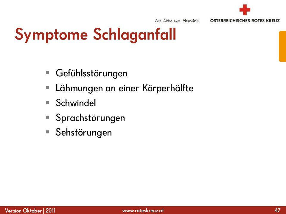 Symptome Schlaganfall