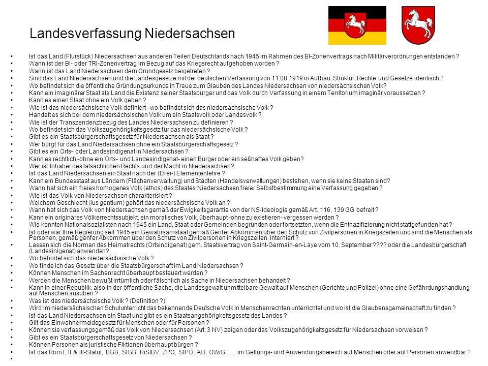 Landesverfassung Niedersachsen