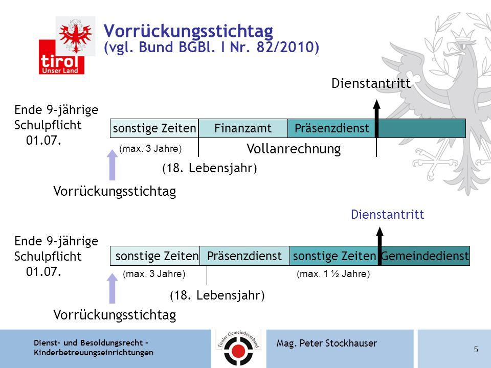 Vorrückungsstichtag (vgl. Bund BGBl. I Nr. 82/2010)