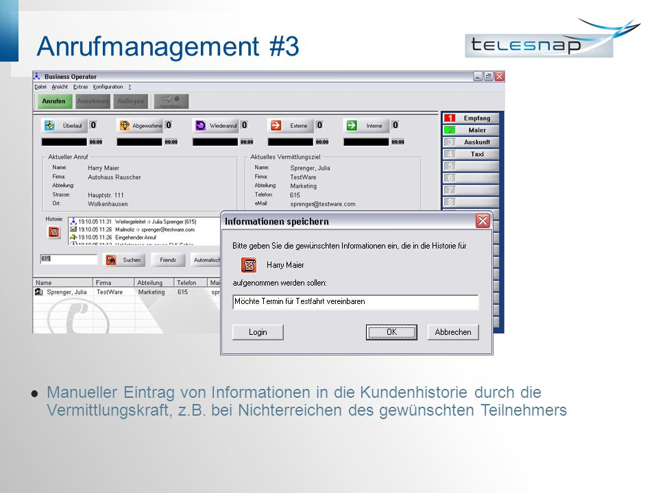 Anrufmanagement #3