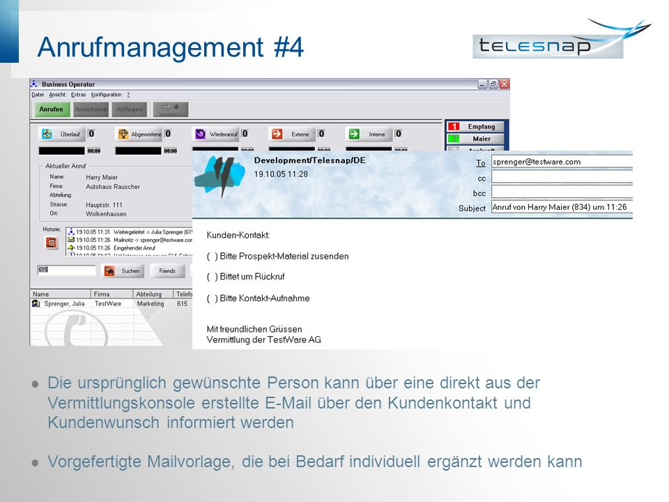 Anrufmanagement #4 Anrufmanagement #4
