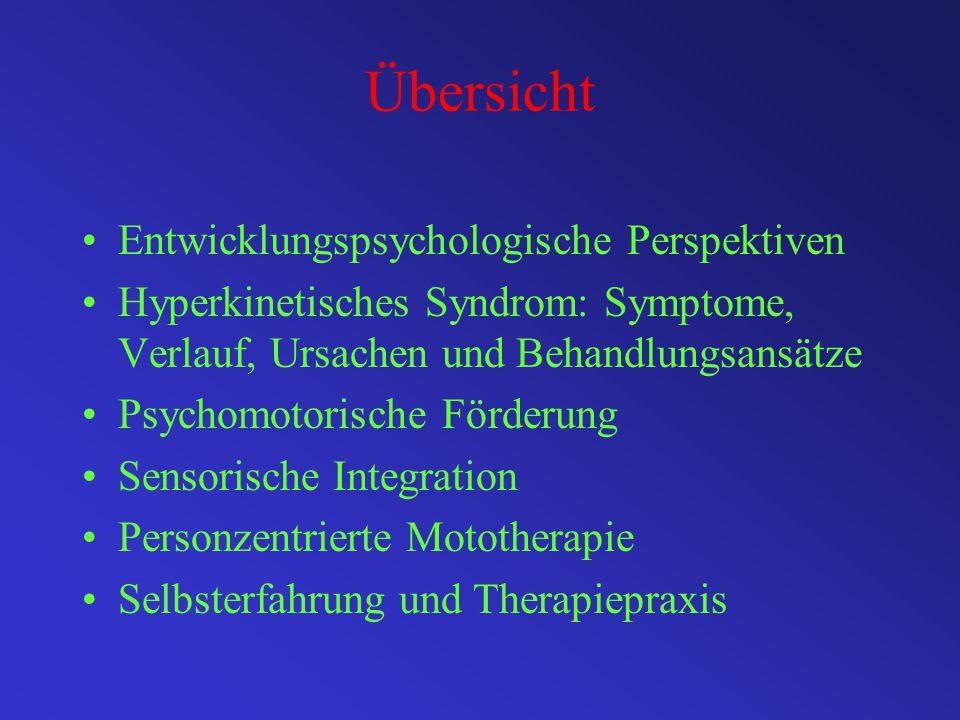 Übersicht Entwicklungspsychologische Perspektiven