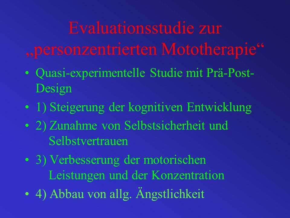 """Evaluationsstudie zur """"personzentrierten Mototherapie"""
