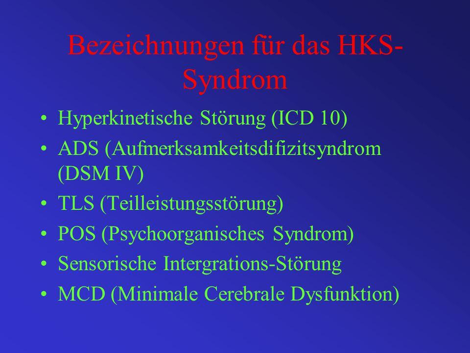 Bezeichnungen für das HKS-Syndrom