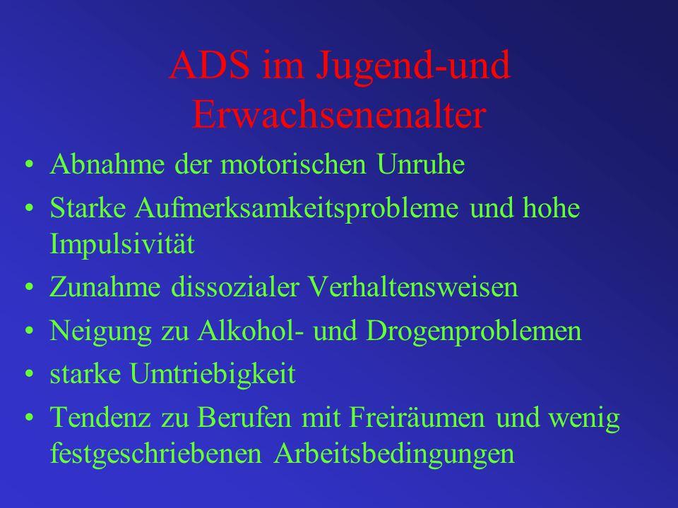 ADS im Jugend-und Erwachsenenalter