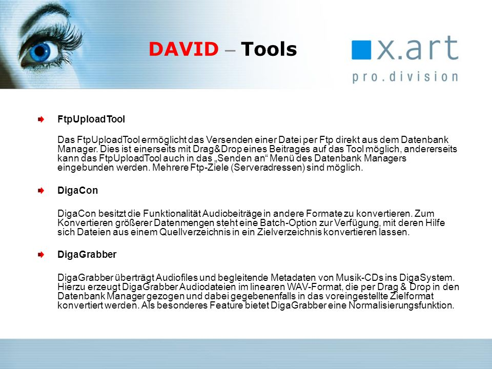 DAVID – Tools FtpUploadTool DigaCon