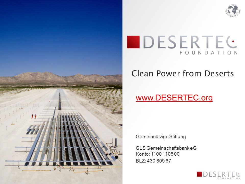 Clean Power from Deserts