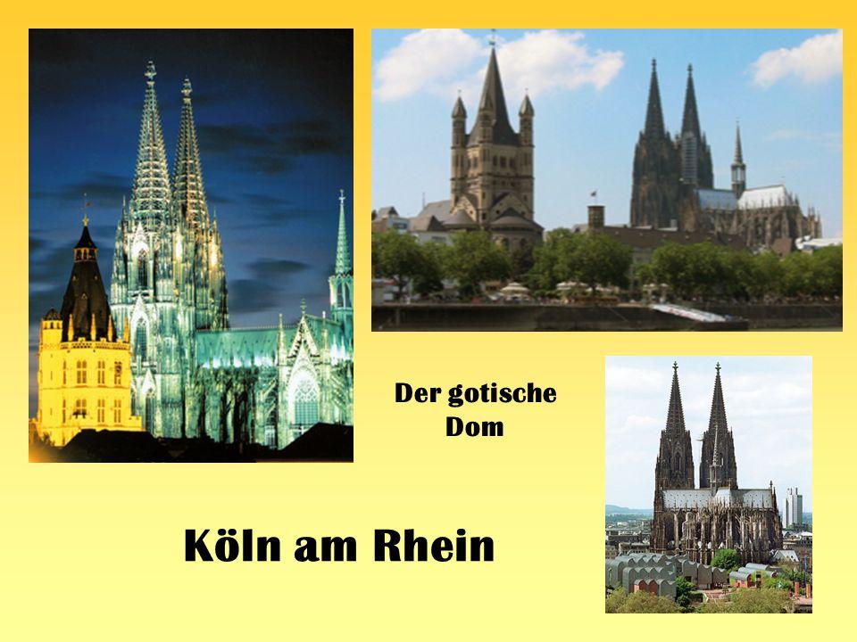 Der gotische Dom Köln am Rhein