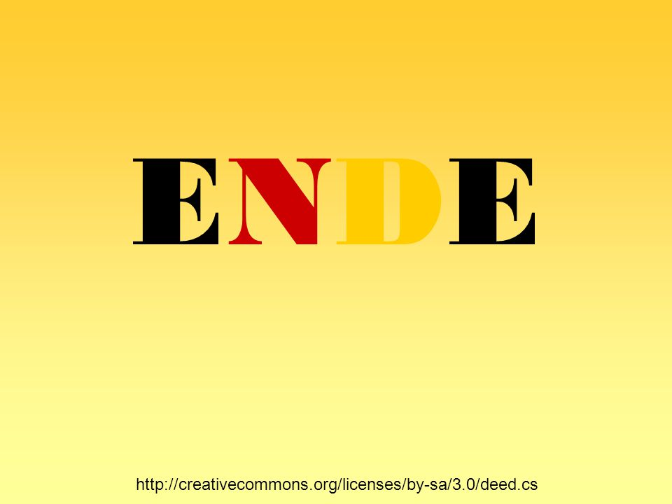 ENDE http://creativecommons.org/licenses/by-sa/3.0/deed.cs