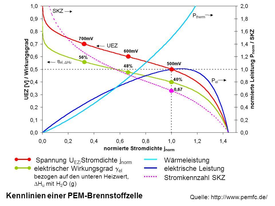 Kennlinien einer PEM-Brennstoffzelle