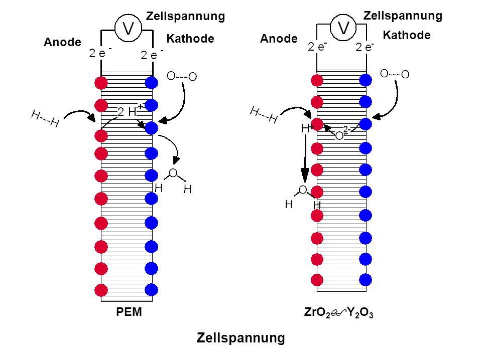 Zellspannung Zellspannung Zellspannung Kathode Kathode Anode Anode PEM