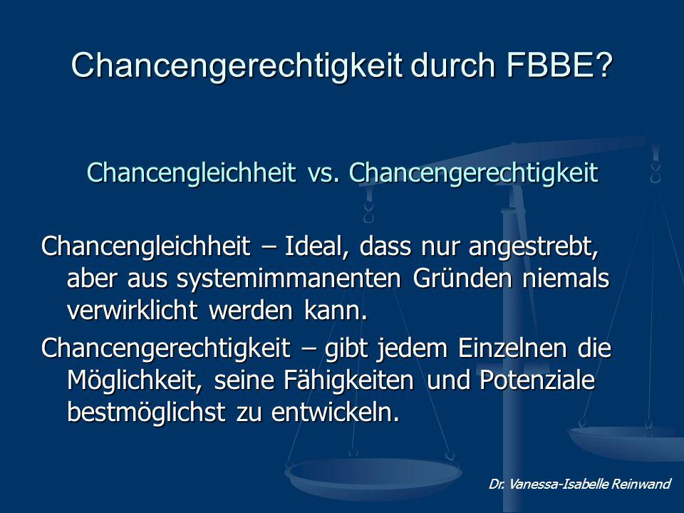 Chancengerechtigkeit durch FBBE