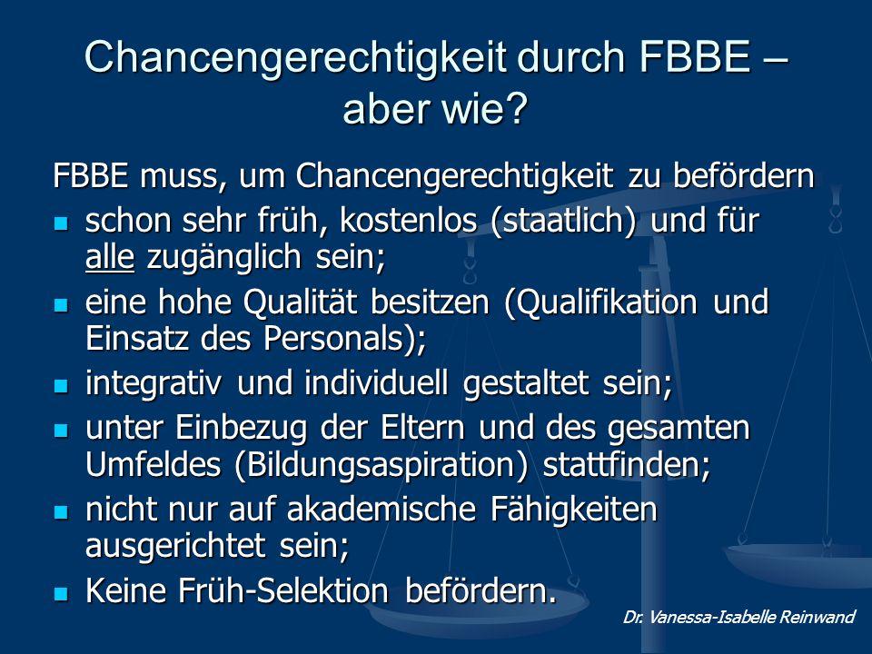 Chancengerechtigkeit durch FBBE – aber wie