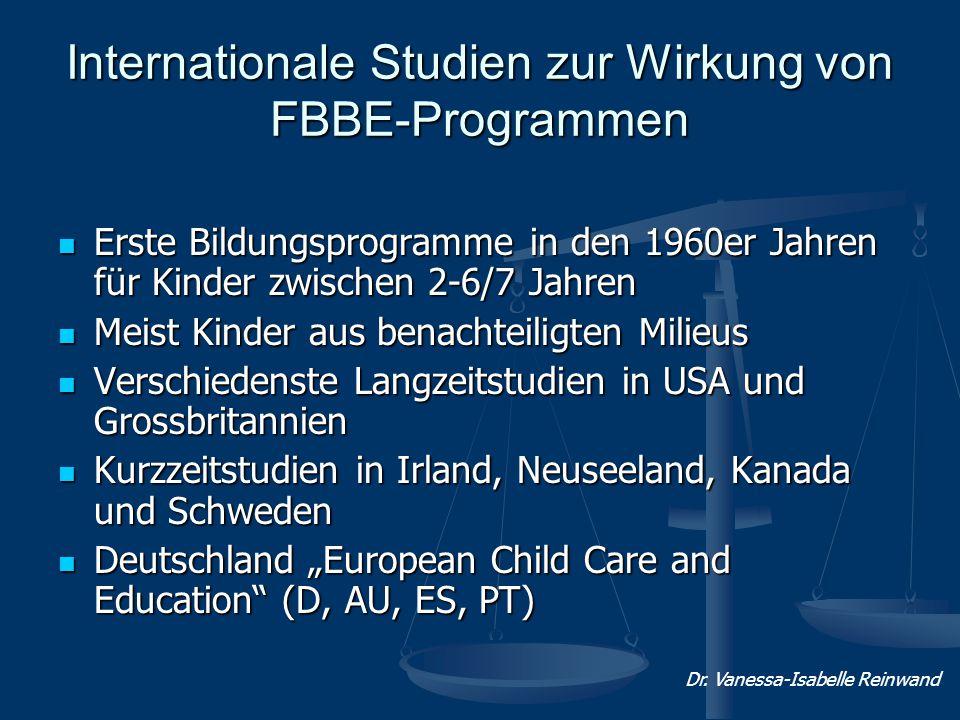 Internationale Studien zur Wirkung von FBBE-Programmen