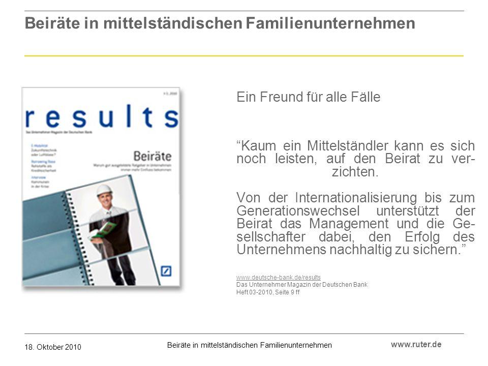 Beiräte in mittelständischen Familienunternehmen